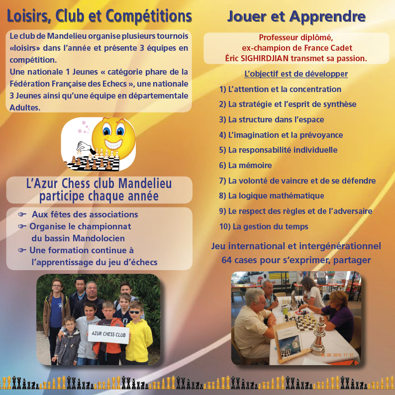 Azur Chess Club - De-pliant 2017 V-